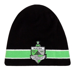 Youth NJCSA Knit Beanie with Damask Patch