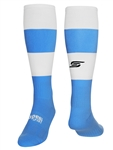 CARACARA Soccer Sock with Ankle and Arch Support Light Blue