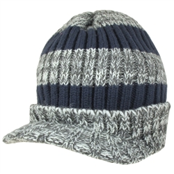 Capelli New York Marled Stripe Knit Skull Cap With Brim