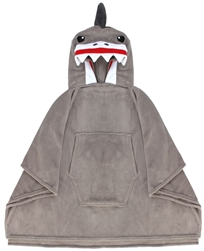 Capelli New York Micro Cozy Hooded Poncho - Scary Shark