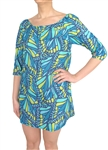 Capelli New York Ladies Printed 3/4 Sleeve Peasant Tunic