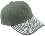 Capelli New York Ladies Rhinestone Baseball Cap