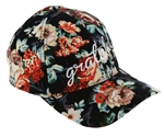 "Capelli New York Ladies ""Grateful"" Embroidered Over Rose Printed Baseball Hat"