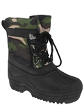 Capelli New York Camo Nylon Lace Up Boys Snow Boot with Berber Lining