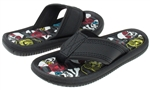 Capelli New York Faux Leather Thong Surfer Skulls Print Boys Flip Flops