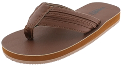 Capelli New York Boys Faux Leather Flip Flops