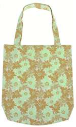 Capelli New York Abstract Daisy Printed Canvas Tote Bag