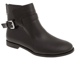 Capelli New York Ladies Short Boot With Buckle Strap and Zipper