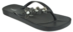 Capelli New York Pvc Upper With Jelly Flowers Ladies Fashion Flip Flop