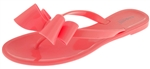 Capelli New York Ladies Fashion Flip Flop Jelly Thong With A Bow