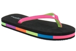 Capelli New York Neon Patent Thong Colorblock Girls Fashion Flip Flop