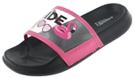 Capelli New York Girls Transparent Strap Slide with Pool Side Printing