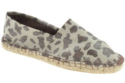 Capelli New York Leopard Espadrille With Crochet Stitching, Lining On Rubber Outsole