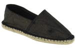 Capelli New York Ladies Casual Metallic Canvas Espadrille