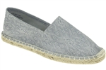 Capelli New York Ladies Casual Lace Espadrille Flat with Canvas Lining