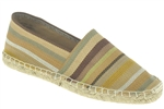 Capelli New York Multi Stripe Ladies Casual Canvas Espadrille Flat
