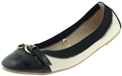 Capelli New York Ladies Flats with Buckle Strap