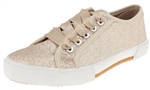 Capelli New York Ladies Glitter Sneakers with Ribbon Laces