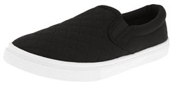 Capelli New York Ladies Quilted Sneakers with Memory Foam Insole