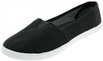 Capelli New York Ladies Slip On Shoes with Diagonal Stitch Detail Memory Foam Insole