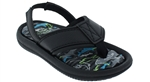 Capelli New York Toddler Boys Faux Leather Upper on Sea Printed Sock Flip Flops