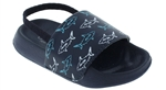 Capelli New York Toddler Boys Swimming Sharks Flip Flops with Elastic Backstrap