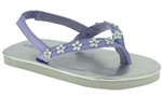 Capelli New York Leather Thong And Backstrap With Daisy Gems Toddler Girls Flip Flop