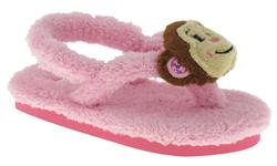 Capelli New York Chamois Thong With Backstrap And Monkey Pom Toddler Girls Flip Flop