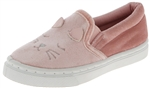 Capelli New York Toddler Girls Slip On Shoes with Sleepy Creature Embroidery and 3D Ears