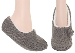 Capelli New York Ladies Pull On Slipper Socks with Crochet and Grippers
