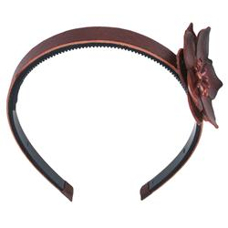 Capelli New York 7Mm Plastic Head Band With Covered Top And Flower