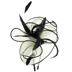 Capelli New York Ladies Headband Fascinator With Contrast Trim Net & Feathers