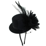 Capelli New York Ladies Headband Fascinator Witth Top Hat & Flower