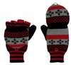 Capelli New York Winter Fairisle Acrylic Knit Flip Top Mitten With Plastic Button