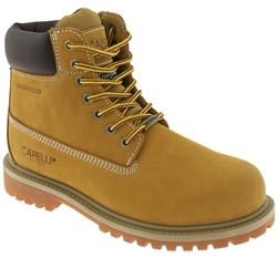 Capelli New York Men's Waterproof Nubuck Leather Work Boot with Memory Foam Insole