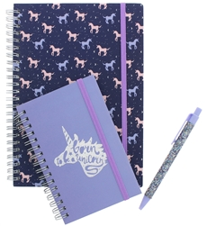 Capelli New York 2pc Notebooks & Pen Set - Born to Be a Unicorn
