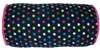 "Capelli New York 14"" Microcozy Bolster Going Dotty Pillow With Heart Accents"