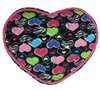 "Capelli New York 12"" Micro Cozy Heart Shaped Wild Hearts Pillow With Dot Accents"