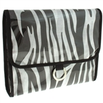 Capelli New York Zebra Print Multi Functional Travel Wet Bikini Bag
