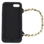 Capelli New York Silicone iPhone 5 Case Handbag With Metal Chain Strap Black