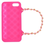 Capelli New York Silicone iPhone 5 Case Handbag With Metal Chain Strap Pink