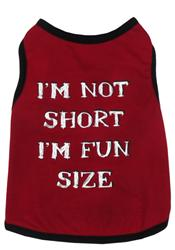 Capelli New York Pet Tank I'M Not Short I'M Fun Size