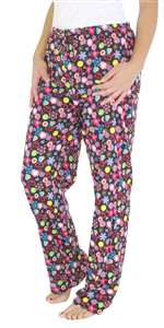Capelli New York Ladies Printed 1x1 Rib Basic Sleep Pant