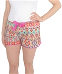 Capelli New York Ladies Printed Sleep Short with Drawcord