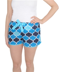 Capelli New York Ladies Navy Medalian Printed Sleep Short with Drawcord