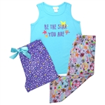 "Capelli New York Girls ""Be The Star You Are"" 3 Piece Set: Tank, Short & Capri"