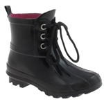 Capelli New York Shiny Girls Fisherman Rain Boot With Laces
