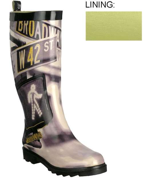 Capelli New York Shiny Street Signs Nyc Destination Ladies Rain Boot