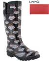Capelli New York Welcome To Vegas Printed Ladies Tall Sporty Rubber Rain Boot