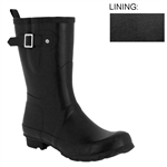 Capelli New York Ladies Fisherman Body Rubber Rain Boot With Strap Metal Buckle & Gusset